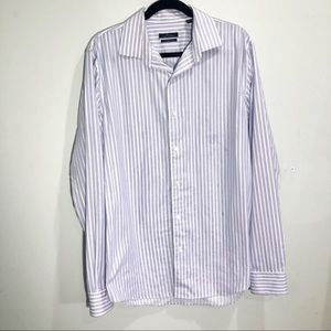 Marc Anthony slim striped dress shirt 16.5""